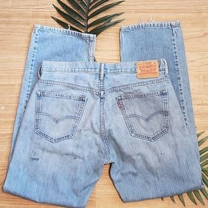 LEVIS STRAUSS JEANS 569 DISTRESSED PAINTED 34 X34""